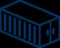 container line bleu
